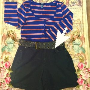 High Waisted Black Short Liz Claiborne